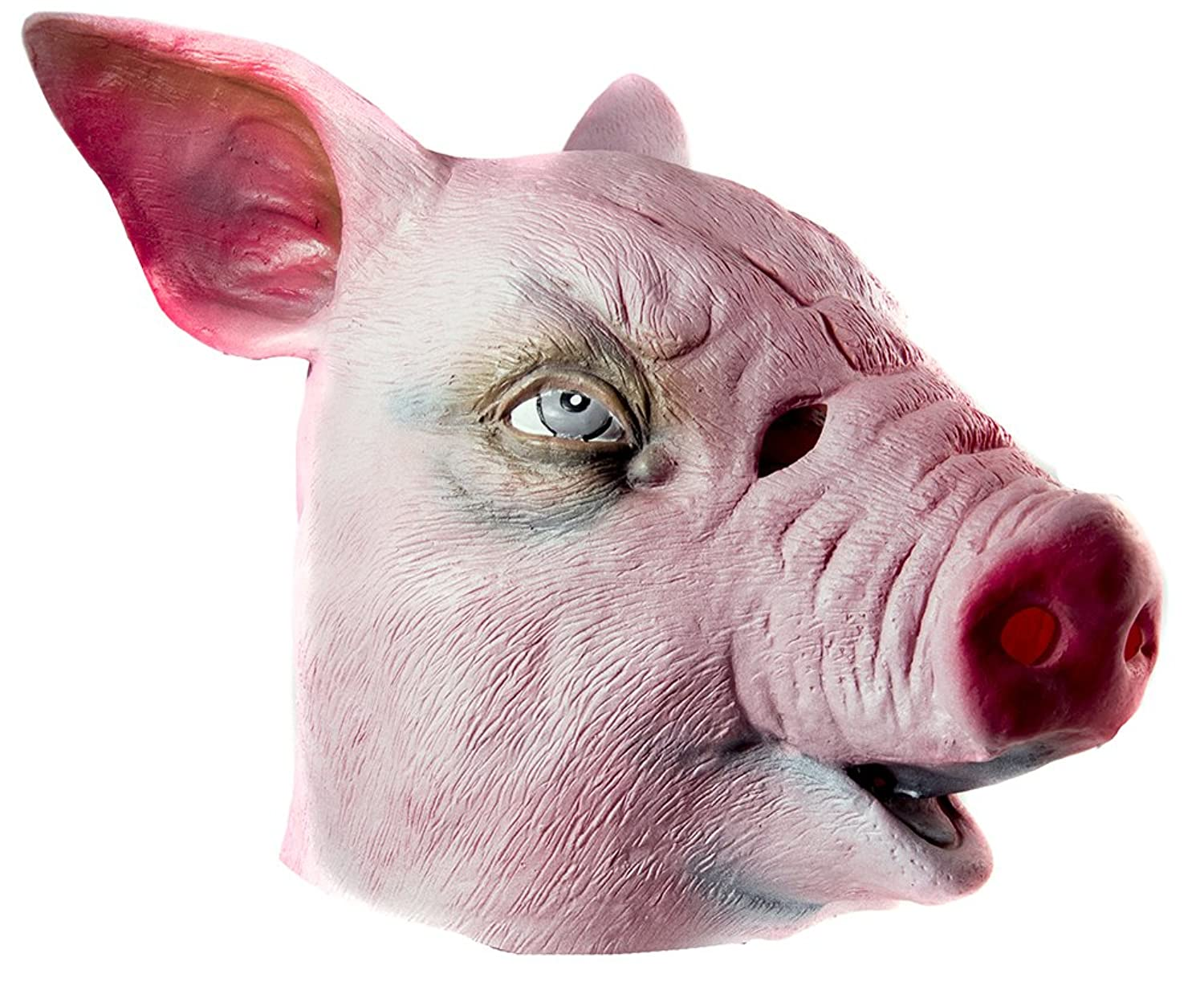 Uncategorized Pig Mask amazon com hms pig realistic animal mask pink one size clothing