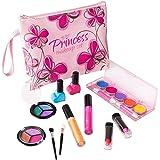 Playkidz Kids Girls First Princess Washable Real Makeup Set Designer Floral Cosmetic Bag