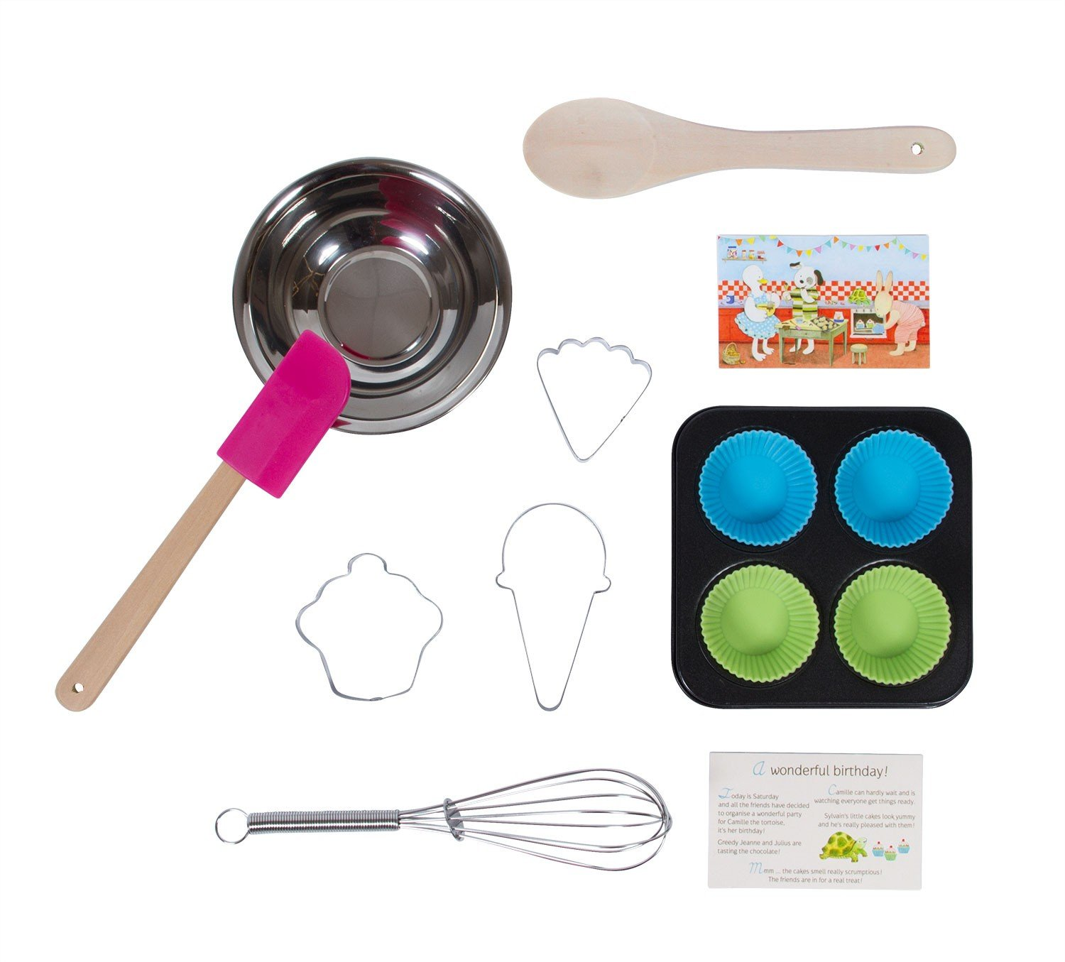 Moulin Roty Je Fais Des Gateaux ''I Am Baking Pastries!'' Child Sized Cooking Tools Toy Set in Carry Suitcase by Le Grande Famille (Image #2)