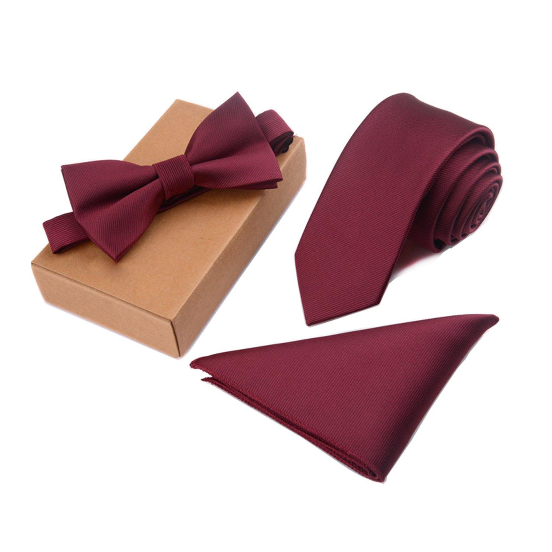 Yamed Slim Tie Set Men Bow Tie And Pocket Square Bowtie Necktie Handkerchief Man