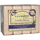 A La Maison Soap Bars, Lavender Flowers, 3.5 oz, Value Pack, 4 Count