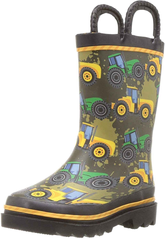 Western Chief Boys Waterproof Long Elegant Beach Mall Printed Rain Easy Boot O with Pull
