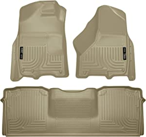 Husky Liners - 99043 Fits 2010-18 Dodge Ram 2500/3500 Mega Cab Weatherbeater Front & 2nd Seat Floor Mats Tan