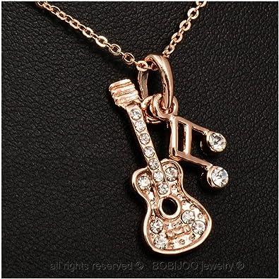 BOBIJOO JEWELRY - Colgante del Collar De La Guitarra Las Notas De ...