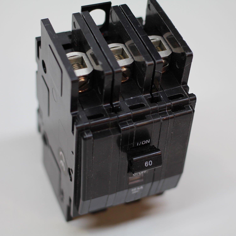 Circuit Breaker 60 Amp 3 Phase Panel Mount BK Square D SQD 360P
