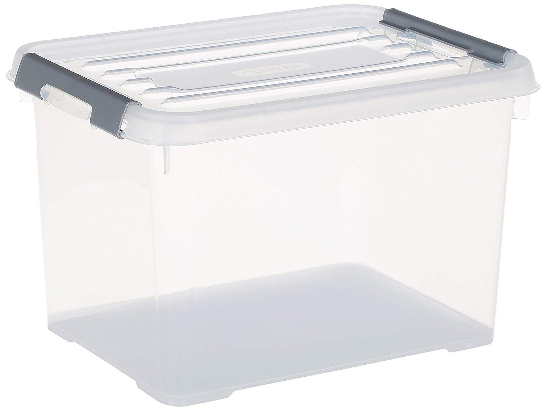 20 L Curver 227904 Handy Box Plus Tapa con clip de pl/ástico transparente 39 x 25 x 25 cm