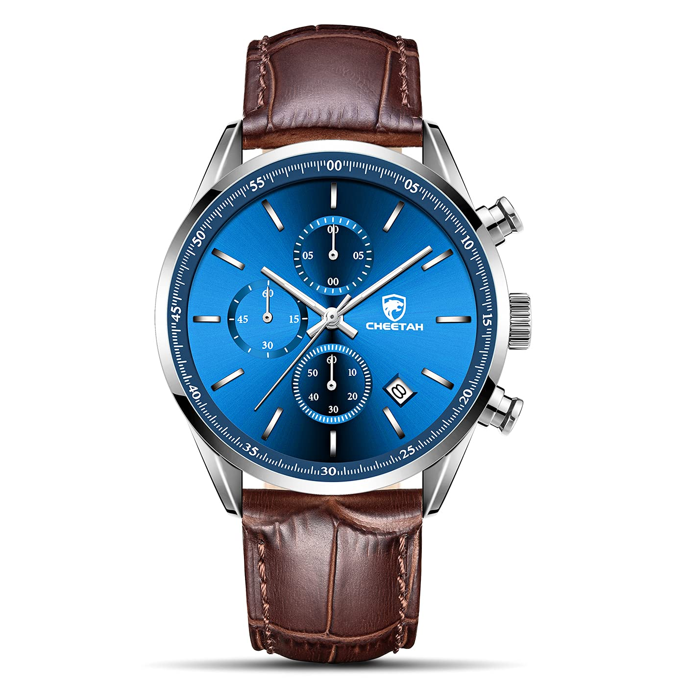 CHEETAH Fashion Business Mens Watches with Stainless Steel or Leather Strap Waterproof