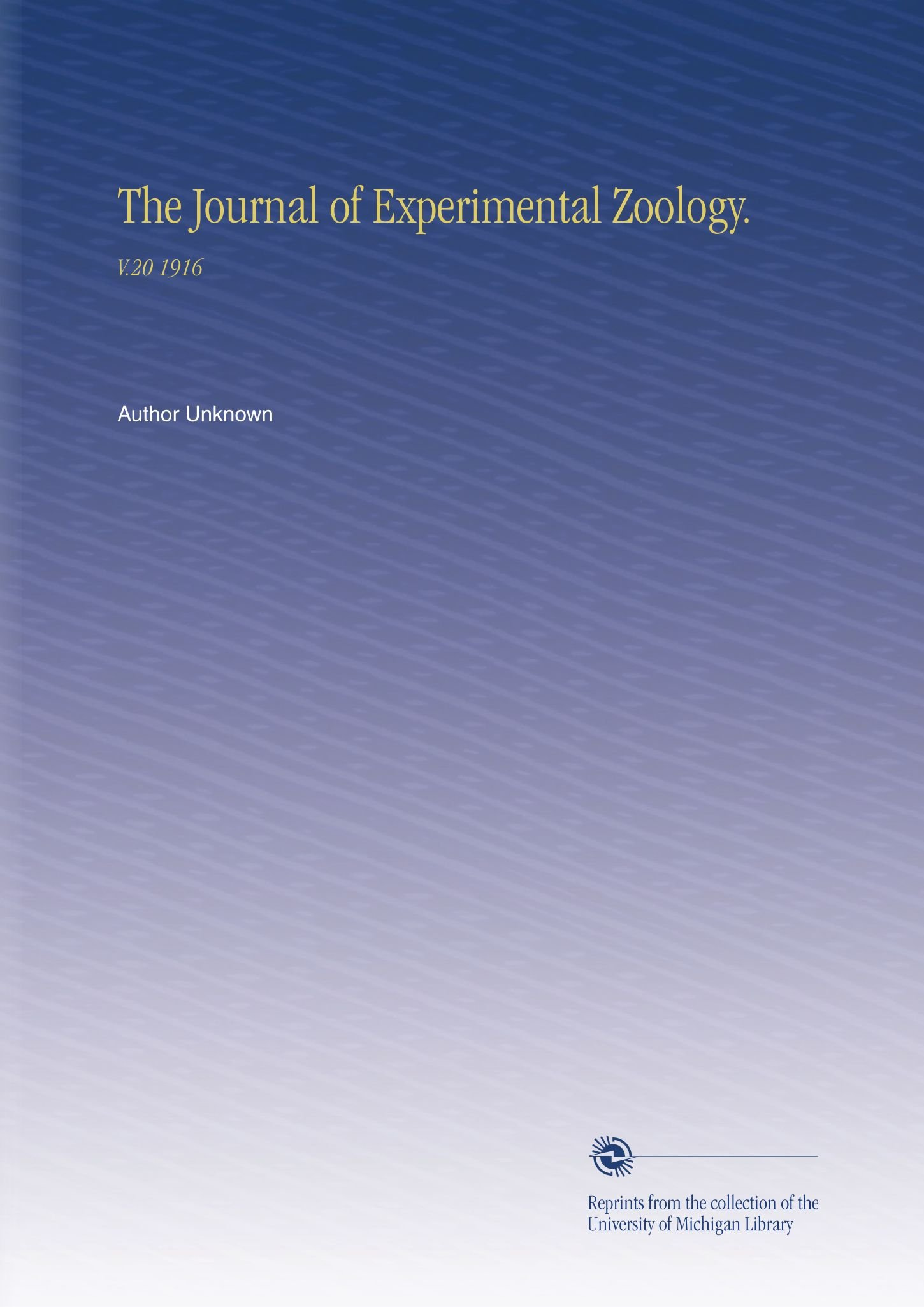 Download The Journal of Experimental Zoology.: V.20 1916 ebook