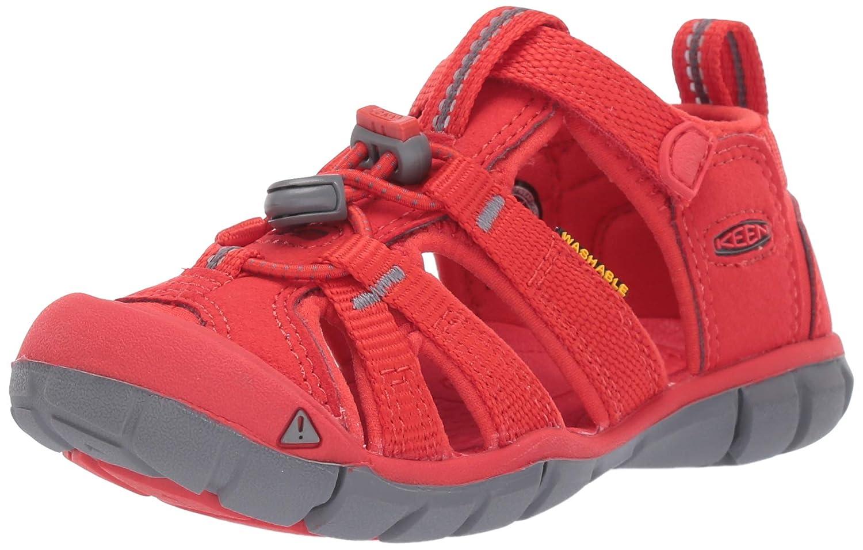 Fiery red 13 M US Little Kid KEEN Unisex Seacamp II CNX Water Shoe