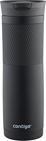 Contigo Snapseal Byron Stainless Steel Travel Mug, 24 oz., Matte Black