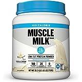 Muscle Milk 100 Calorie Protein Powder, Vanilla Crème, 15g Protein, 1.65 Pound