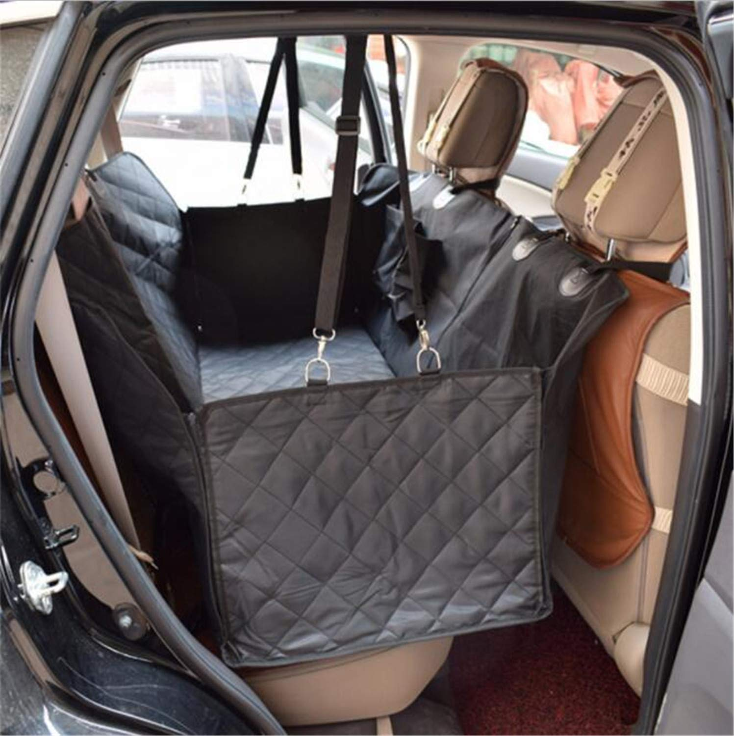 Dog Seat Cover,SUV Trunk Anti-dirty Wear Resistant Double Layer PP Cotton Interlayer, Non-slip Mesh, Fixed Glue Stick