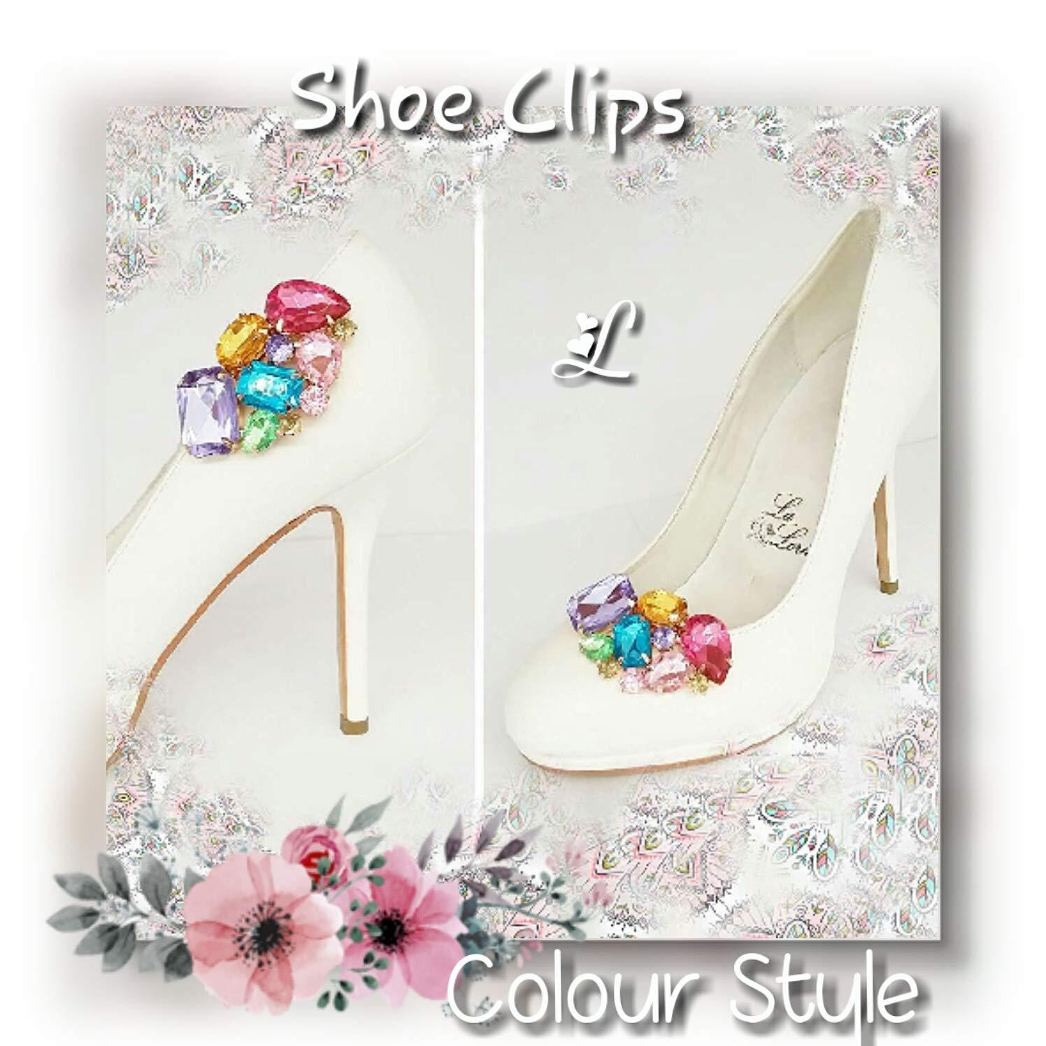 La Loria Mujer Clips de Zapatos Decoraciones Prendedores Adornos para Zapatos Colur Style 1 Par: Amazon.es: Zapatos y complementos