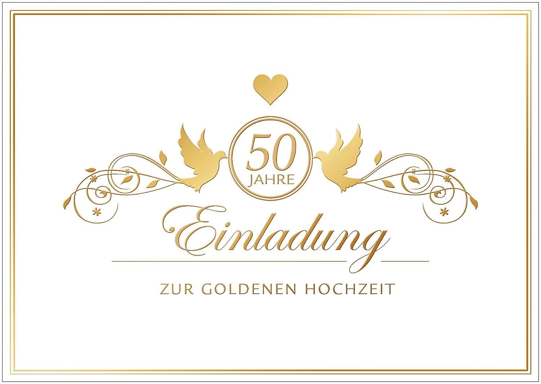 Einladungskarten Goldene Hochzeit Hochzeitseinladungen