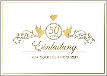 """Erhältlich im 1er 4er 8er Set """"Einladung zur goldenen Hochzeit"""