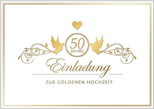 Erhältlich Im 1er 4er 8er Set: U0026quot;Einladung Zur Goldenen Hochzeitu0026quot;  Edle Einladungskarte