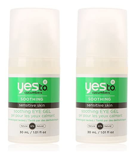 2 Pack - Yes to Cucumbers Soothing Eye Gel, Sensitive Skin 1.01 oz Redken  Curvaceous Full Swirls Sculpt & Shine Cream Serum