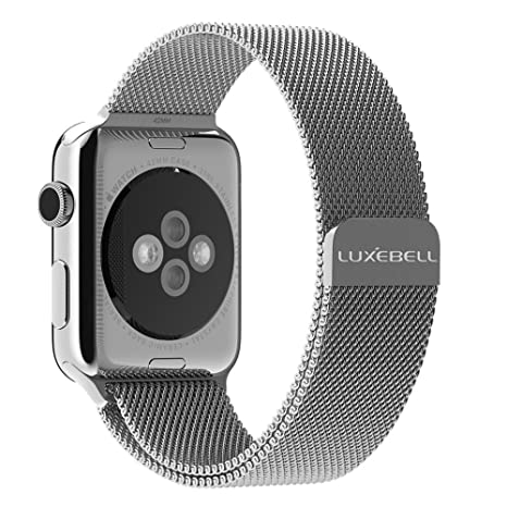 Correa Apple Watch 38mm Luxebell Correa de Milanese Pulsera de Reloj de Acero Inoxidable para Apple