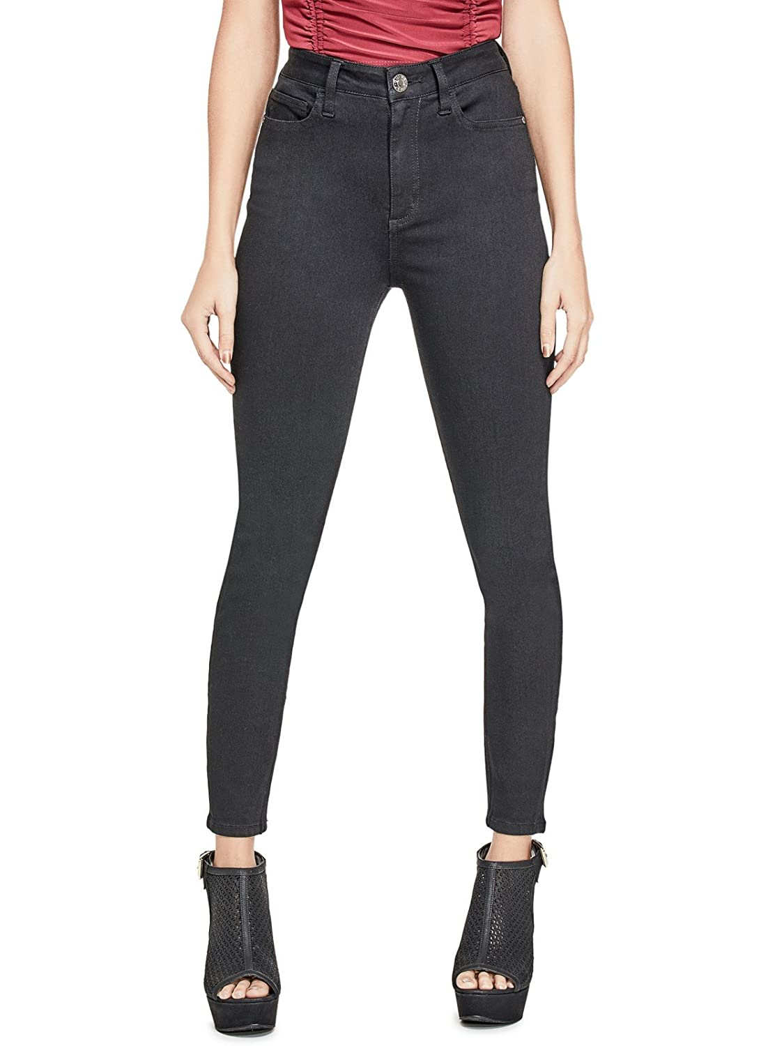 Guess Factory Women's Simmone Super High-Waist Skinny Jeans GuessFactory