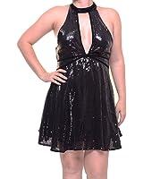 Free People Women's Film Noir Sequin Mini Dress