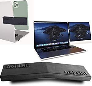 Side Mount Phone or Tablet Holder - for Laptop and Computer Monitor –Use your iPad as an Extra Display for Macbook - Portable Dual Screen Setup -No more Clamp, Clip or Intrusive design -mobile gadgets