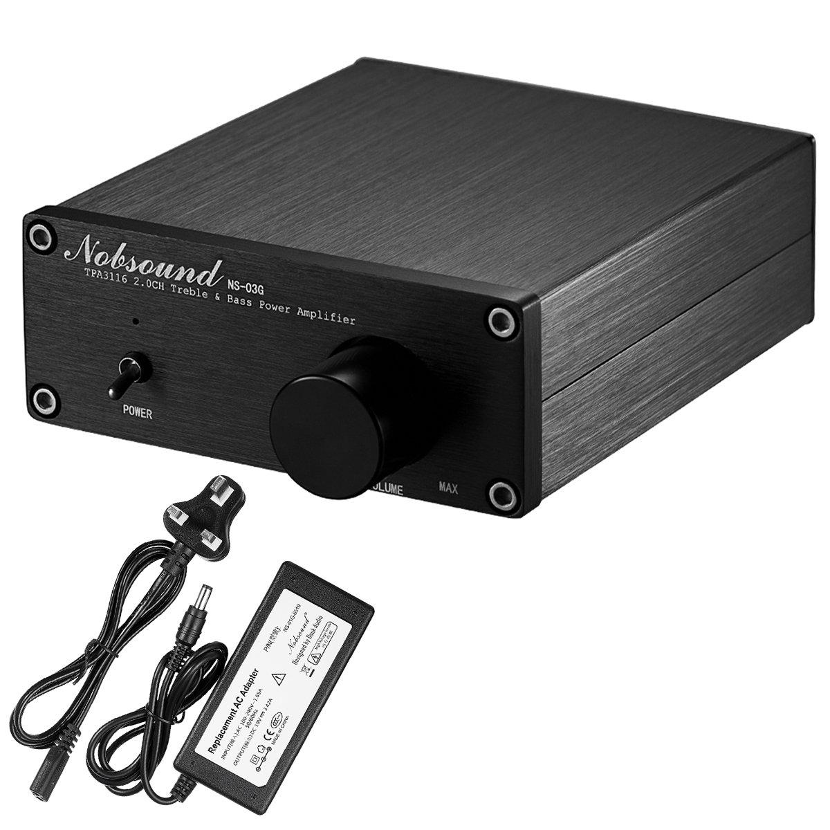 nobsound NS-10G Mini Bluetooth 4.0/Amplificateur num/érique; 100/W hifi Amp avec bloc dalimentation Noir