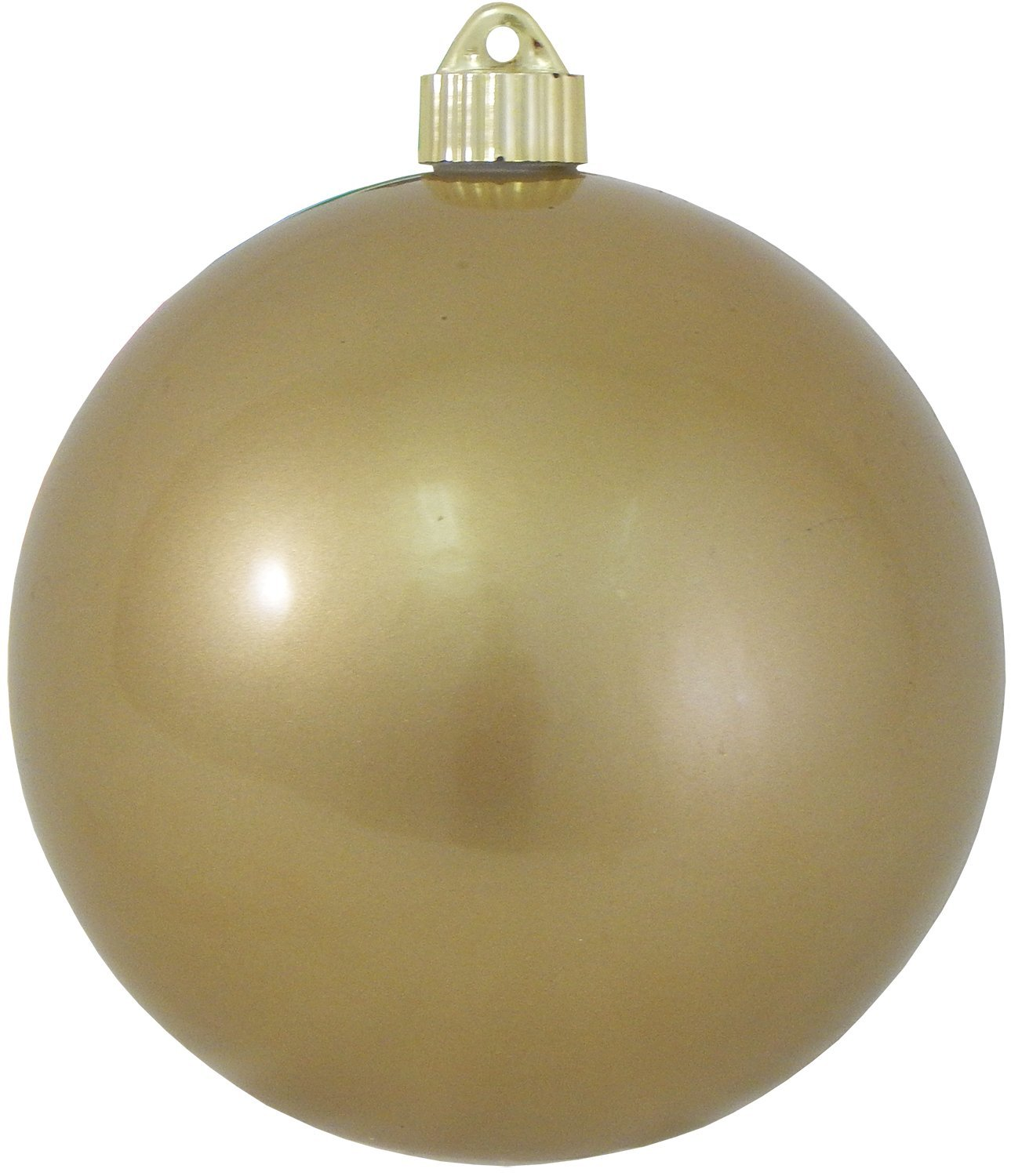 Christmas By Krebs CBK72960 Shatterproof UV-Resistant Christmas Ball Ornaments 6'' Candy Gold 12 Piece