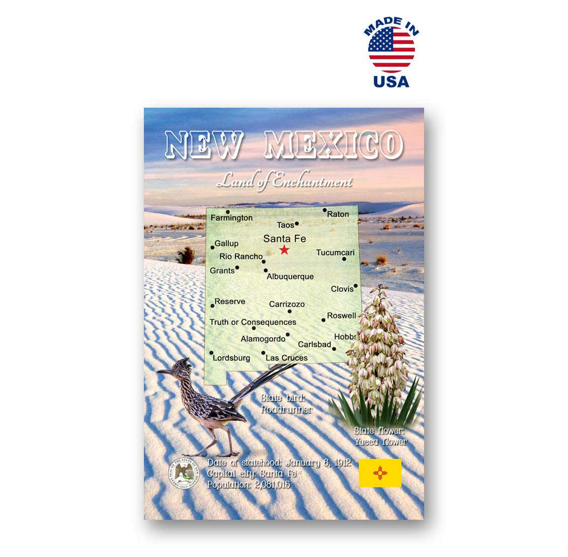 Amazon.com : NEW MEXICO MAP postcard set of 20 identical ...