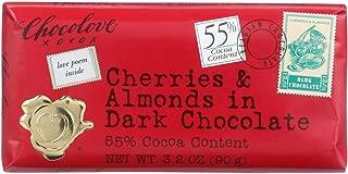 product image for Chocolove Xoxox Premium Chocolate Bar - Dark Chocolate - Cherries and Almonds - 3.2 oz Bars - Case of 12