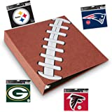 Pigskinz - 3 Ring Football Binder - Embossed Paper Looks and Feels Like a Real Football - Football Card Binder