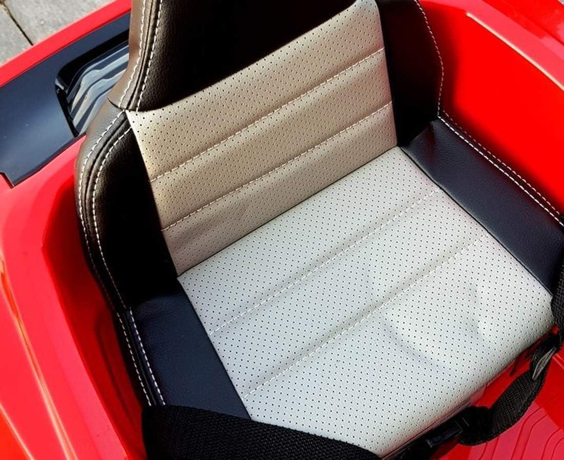 fit4form Kinder Elektroauto GT Raptor Fire Red Sports Cabrio Racer 12 V Kinderfahrzeug Kinderauto elektrisch