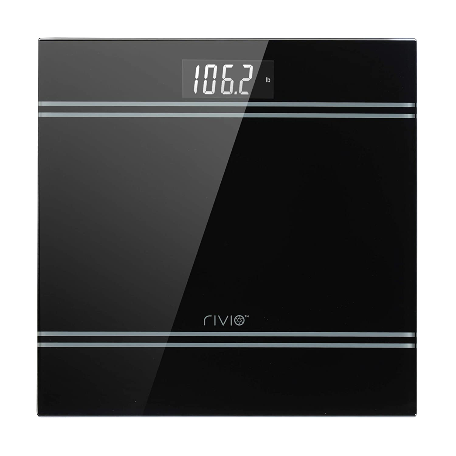 PPK RIVIO Bathroom Scale High Precision Digital Body Weight Scale with Large Backlit LCD Display 440Ib Green