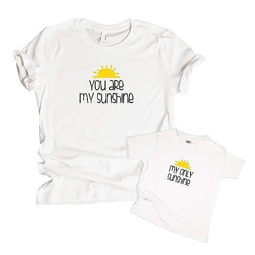 62da528acb49 Amazon.com  Mommy   Me Matching You are My Sunshine Shirt Set (Each Sold  Separately)  Clothing