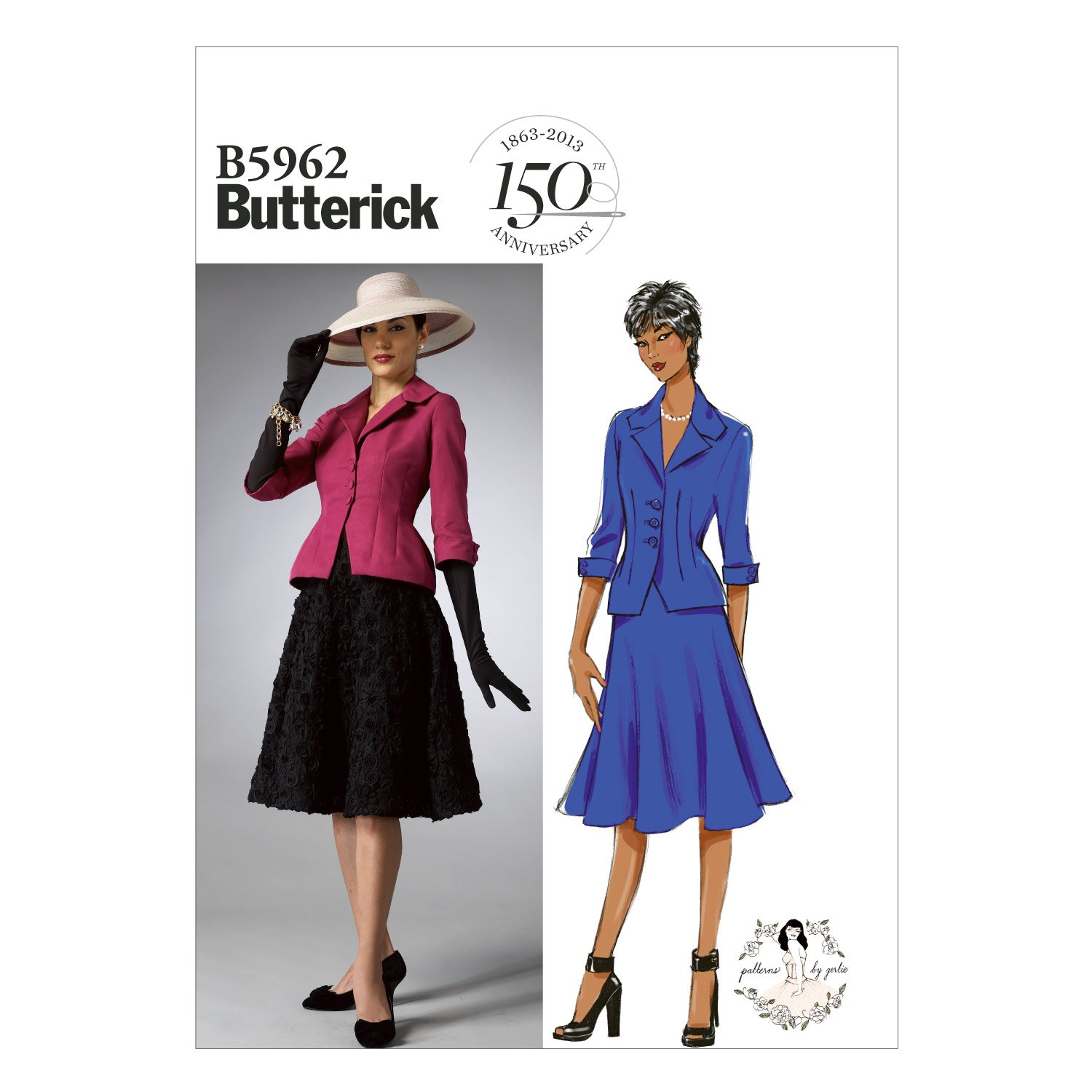 Butterick Patterns B5962 Misses'/Misses' Petite Jacket and Skirt Sewing Templates, Size B5 (8-10-12-14-16) by BUTTERICK PATTERNS