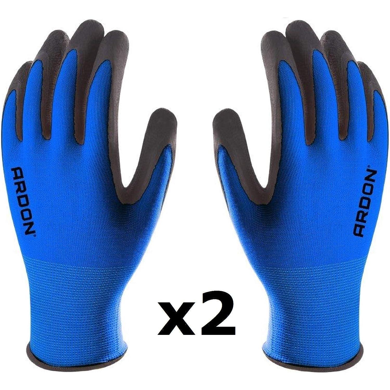 1 Par, Rosa, talla 7S PETRA PROTECTION guantes de trabajo nylon recubiertos con espuma de l/átex duradera y flexible transporte Jardiner/ía industria agricultura alta calidad