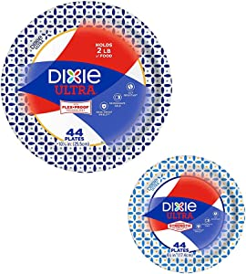 Dixie Ultra Heavy Duty Paper Plate Bundle, Large Plate 10 1/16