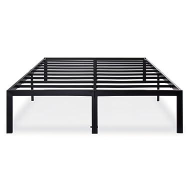 Olee Sleep 14 Inch T-3000 Heavy Duty Steel Slat / Non-slip Support Bed Frame 14BF04K (KING)