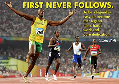 Motivational Quote Usain Bolt Poster 4 2016 Rio Olympic Gold