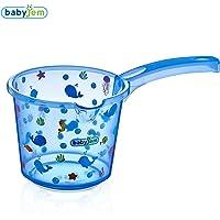 Baby Jem Bebek Banyo Maşrapası Şeffaf Desenli, Mavi