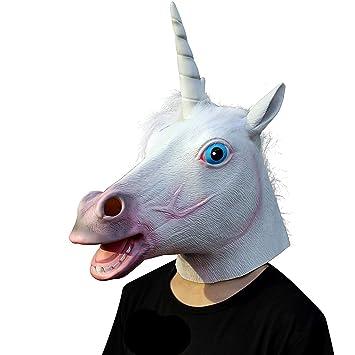 Original Cup Costume da Halloween in Lattice con Maschera a Testa di  Unicorno (Unicorno)  Amazon.it  Giochi e giocattoli 26e86e900d70