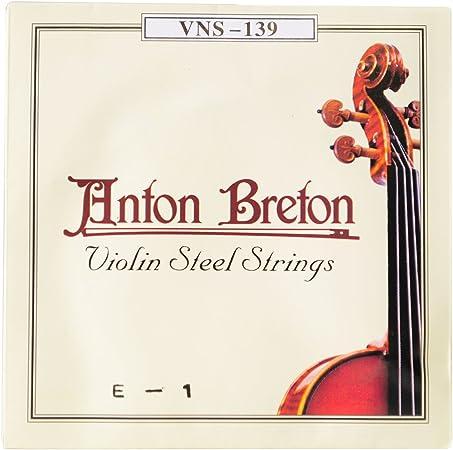 Anton Breton vns-139 de cuerdas para violín (acero inoxidable ...