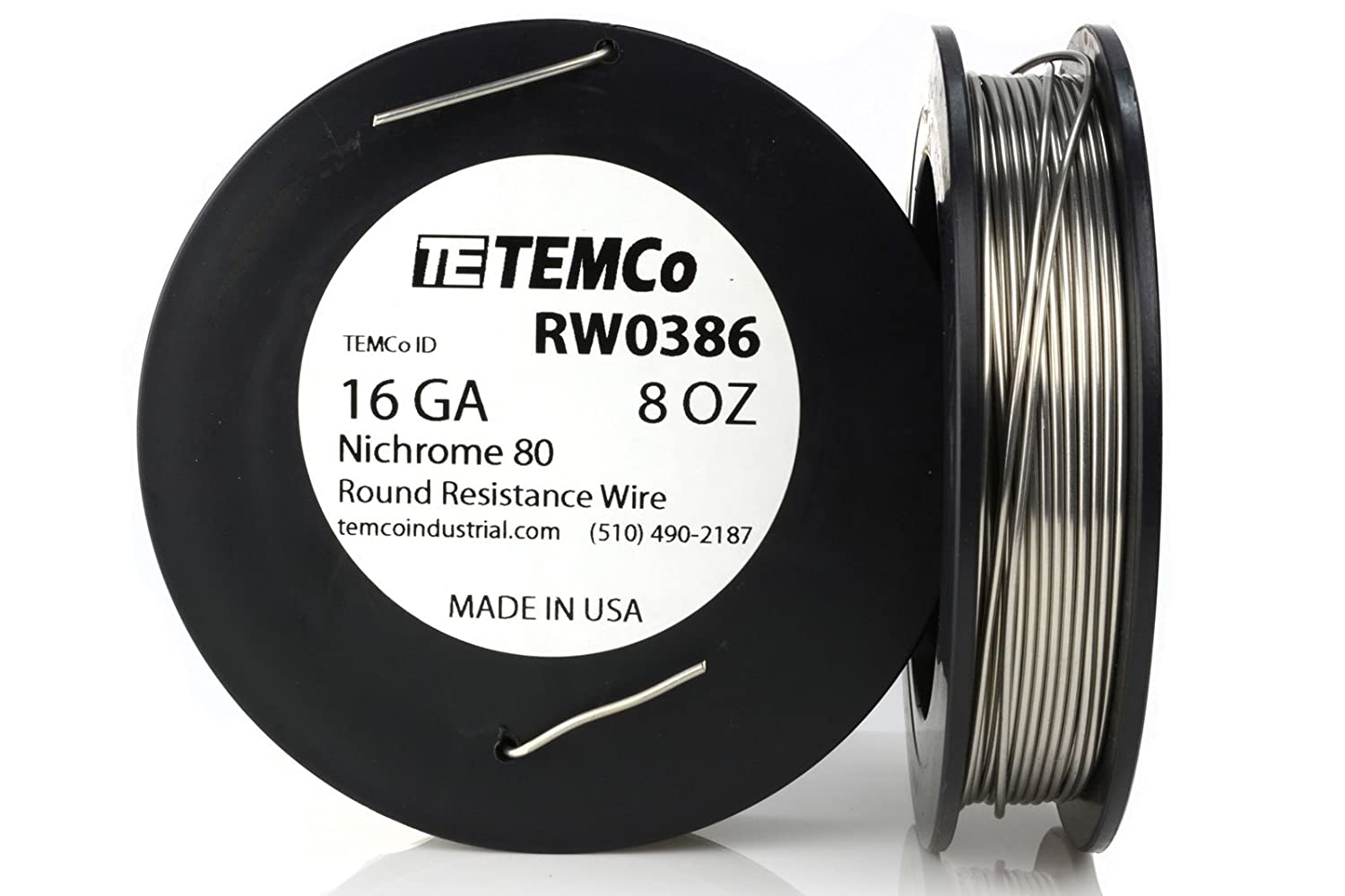 TEMCo Nichrome 80 series wire 16 Gauge 25 FT Resistance AWG ga ...