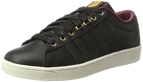 K-Swiss Hoke CMF, Zapatillas para Hombre, Negro (Black/Oxblood/Gold), 42.5 EU