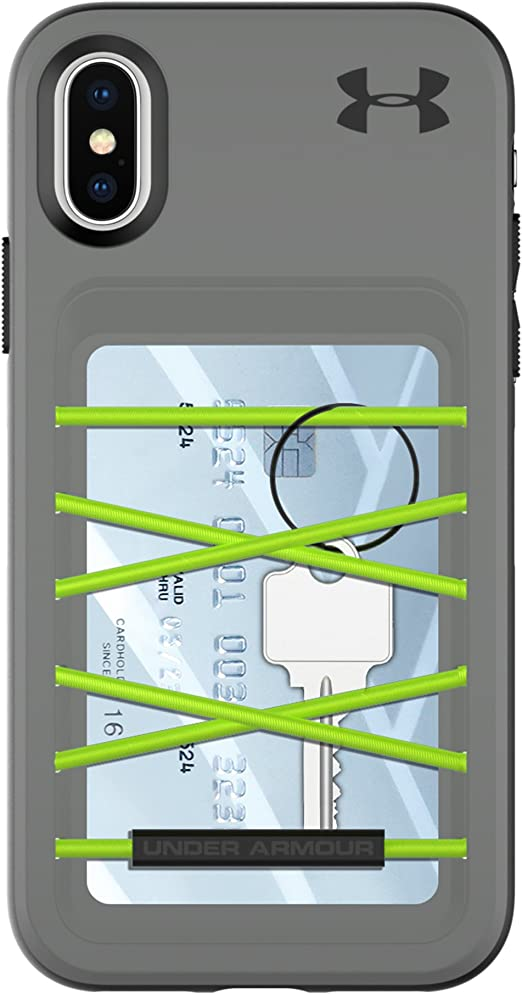 estoy de acuerdo Juramento Aeródromo  Under Armour UA Protect Arsenal Case for iPhone X - Graphite/Quirky Lime -  Amazon.com