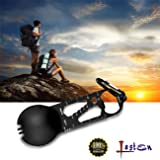 Lasten Spork Outdoor Multi Tool: Eat'N Tool with Bottle Opener, Metric Ruler, Survival EDC Screwdriver, Durable and Lightweight Stainless Steel Multitool for Camping, Hiking, Backpacking(Black)