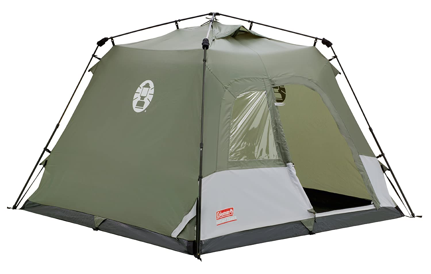 low priced 3b593 e60b4 Coleman Water Repellent Instant Tourer Outdoor Pop-up Tent available in  Green - 4 Persons