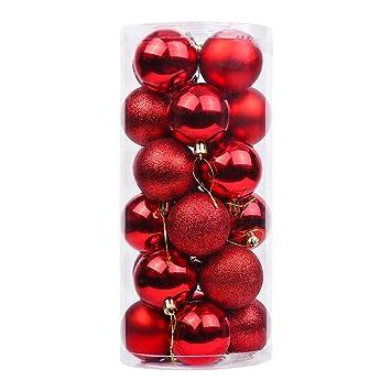 75441b646ea Deggodech 24 Piezas Bolas de Navidad Decoradas 40mm Plastico Bola de  Adornos árbol de Navidad Ornamento Inastillable Christmas Tree Balls para  Decoraciones ...