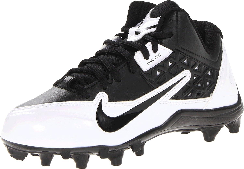 Amazon.com   Nike Kids Boy's Alpha Strike 3/4 TD (Little Kid/Big Kid) Black/ White/Metallic Silver Sneaker 4.5 Big Kid M   Football