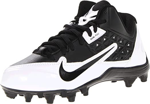 Nike Alpha Strike Low TD sports shoes for kids Black / Silver White / Metallic