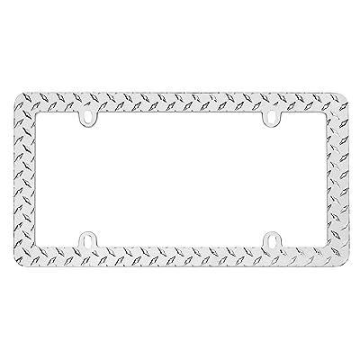 Cruiser Accessories 30830 Diamond Plate License Plate Frame, Chrome: Automotive [5Bkhe0103200]